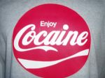 WOMENS RETRO RARE AMERICAN 70`S `COCAINE` T-SHIRT